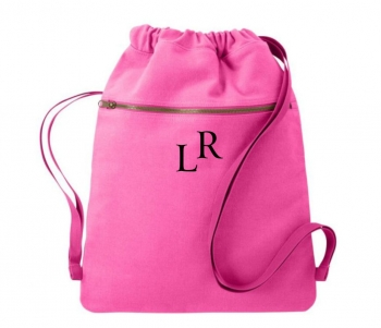 Pink Canvas Cinch Sak Bag