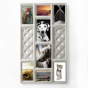 WALL COLLAGE ANTIQUE IVORY  COLOR FRAME