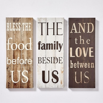 SET OF 3 CANVAS  DECOR  LOVE & FAMILY WALL HANGINGS