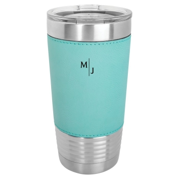 Teal Leatherette Polar Camel Tumbler with Clear Lid