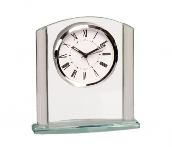 Clear Arch Glass Clock