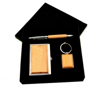 Wood Pen Key Chain Holder Gift Set