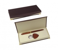 Rosewood Pen and Key Chain Gift Set