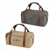 Classically Styled Cotton Canvas Duffel Bag