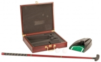 Rosewood Finish Executive Golf Gift Set