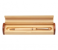 Wide Maple Ballpoint Pen Gift Set