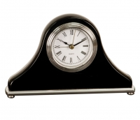 Black Piano Finish Mantle Desk Clock