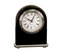 Black Piano Finish Arch Desk Clock