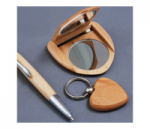Maple Compact Mirror Pen & Keychain Gift Set