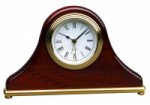 Rosewood Piano Finish Mantle Desk Clock